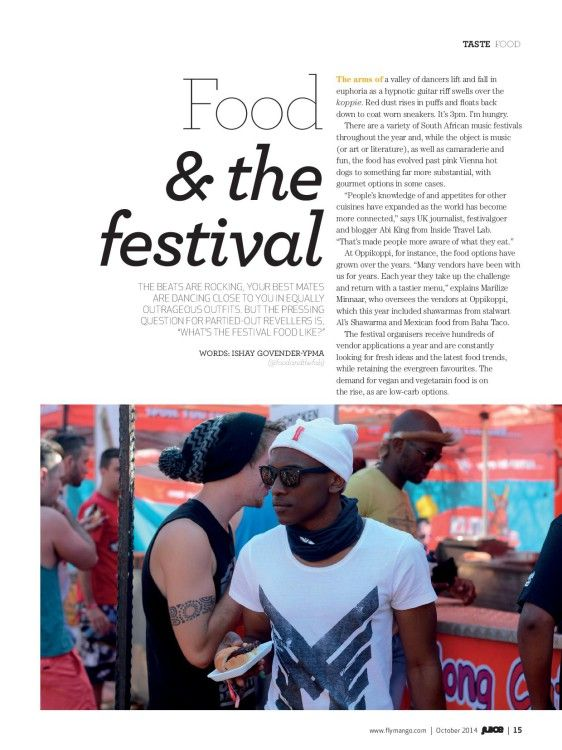 Food and the Festival in South Africa