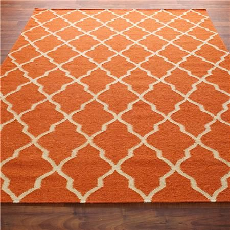 rug: Bedrooms Rugs, Blue And Orange Boys Room, Dhurrie Rugs, Orange Diamonds, Living Room, Blue And Orange Bedrooms, Diamonds Trellis, Bedrooms Colors Orange, Trellis Dhurrie