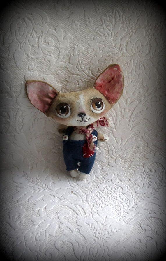 Chihauha cloth doll by suziehayward on Etsy, $59.00. SOLD