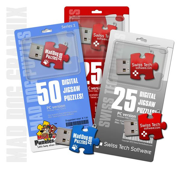 Blister pack with USB keys by MadDogGraphix.com