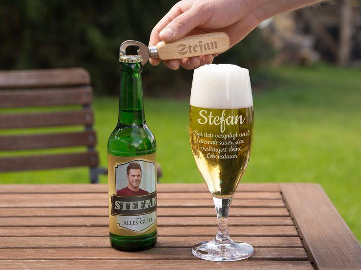 Personalisiertes Bierglas mit deinem Namen oder Text. Der perfekte Begleiter auf jeder Gartenparty