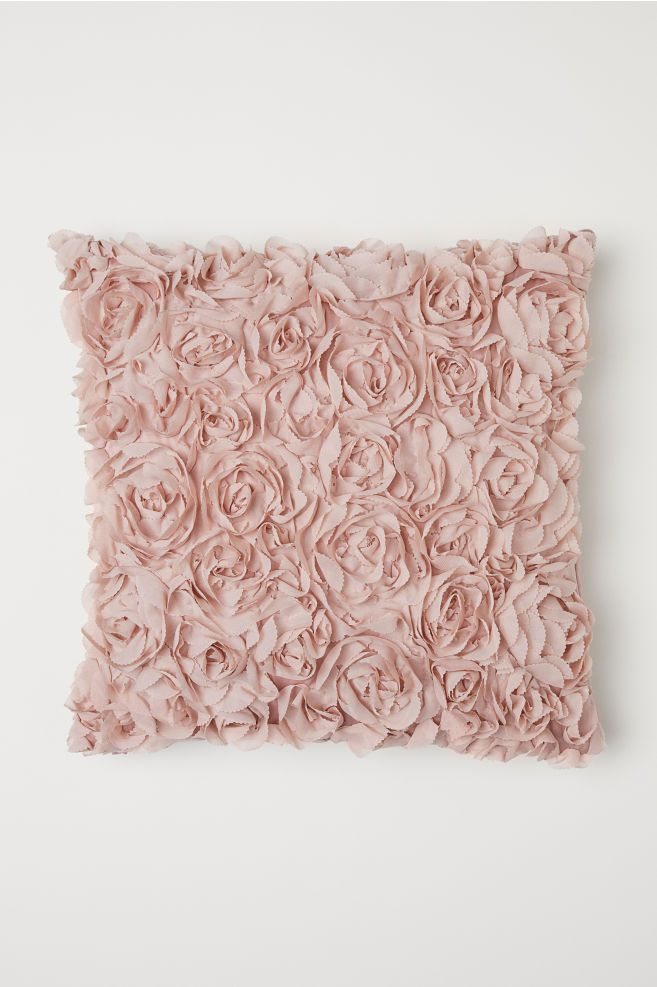 H&M Chiffon-flowered Cushion Cover - Pink in 2019 | room | Pink ...
