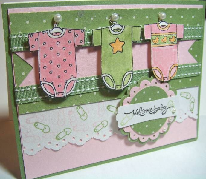 Welcome Baby by Julie Gearinger - Cards and Paper Crafts at Splitcoaststampers