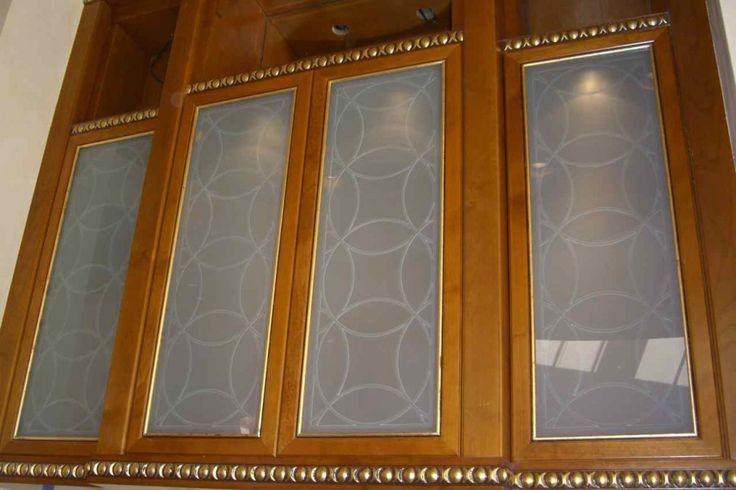 Unique Decorative Glass Inserts for Cabinets