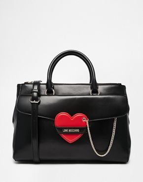 Love Moschino Tote Bag with Heart Detail