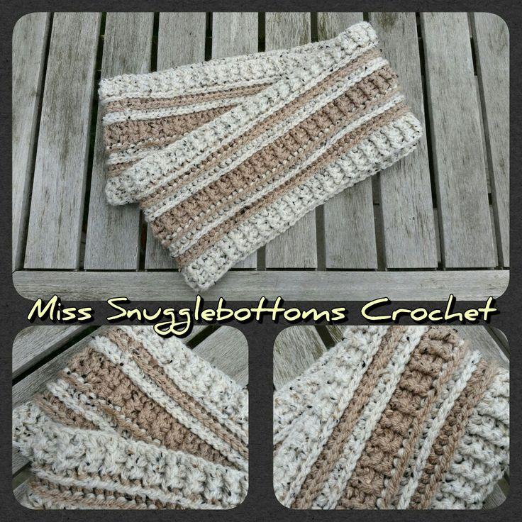 Sjaal gehaakt met tweed