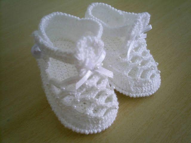 Maria Amélia - Crochê: Sandalinha de Bebe