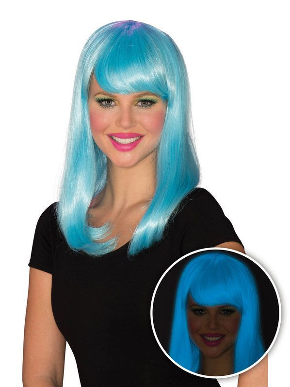 Check Out Womens Blue Glow Babe Wig From Wholesale Halloween Costumes Light Hair Color Pink Wig Ash Hair Color