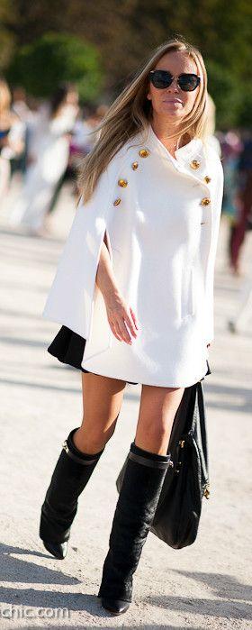 White Jacket and Black Boots, Outside Chloe