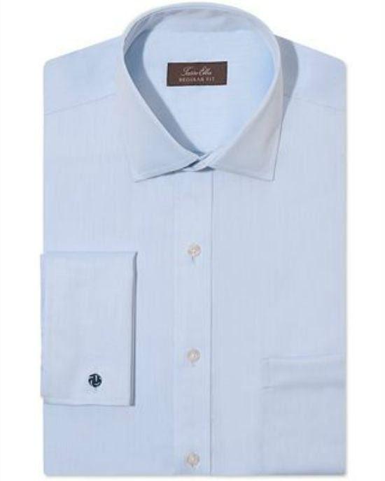 Tasso Elba Non-Iron Sateen Solid French Cuff Shirt