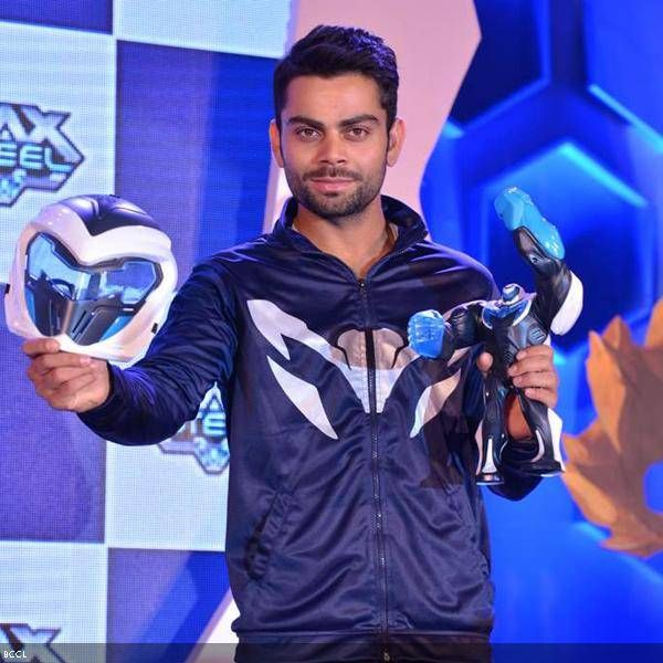 Indian cricketer Virat Kohli during the promotion of a toy brand, held at Grand Hyatt, in Mumbai, on July 19, 2013.