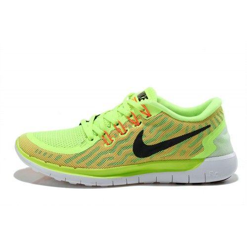 Nike Free 5.0 Billig Ny Dam Löparskor Grön Röd