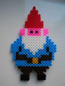 Perler bead garden gnome