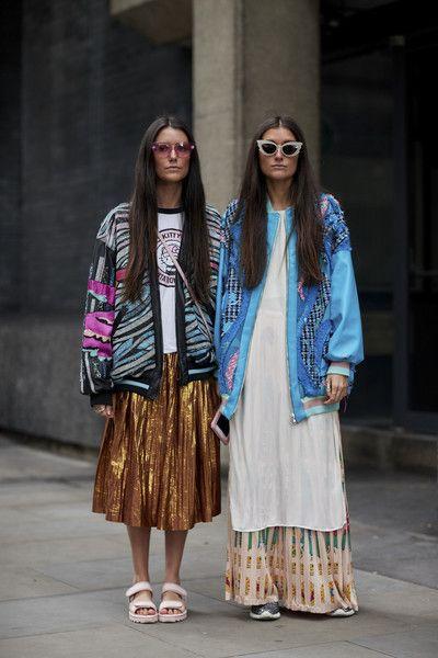 Attendees at London Fashion Week Spring 2018 - Street Fashion