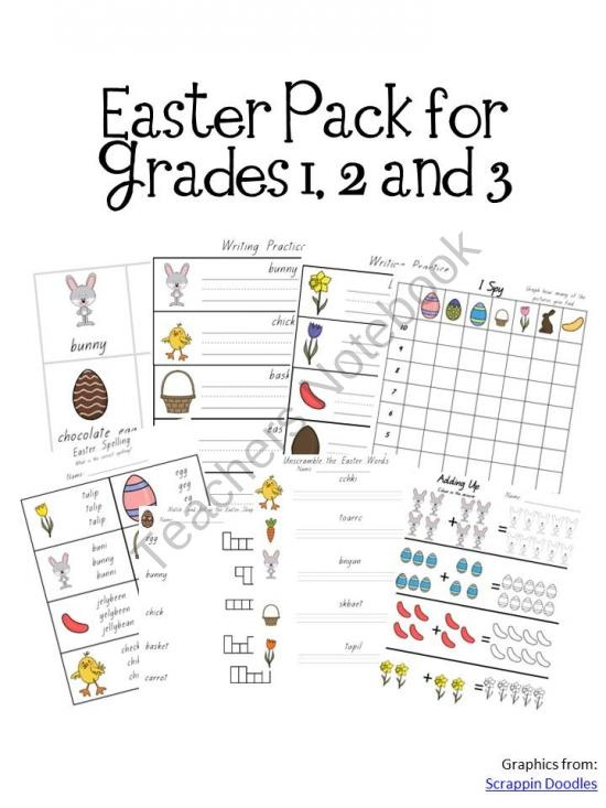 Easter Activity Pack Grades 1 2 3 product from A Moment In Our World on TeachersNotebook.com