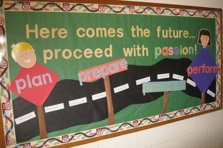 Bulletin boards can be SO much fun to create when I've got some inspiration.  I came across this Progress Roadmap recently from  imom.com ...