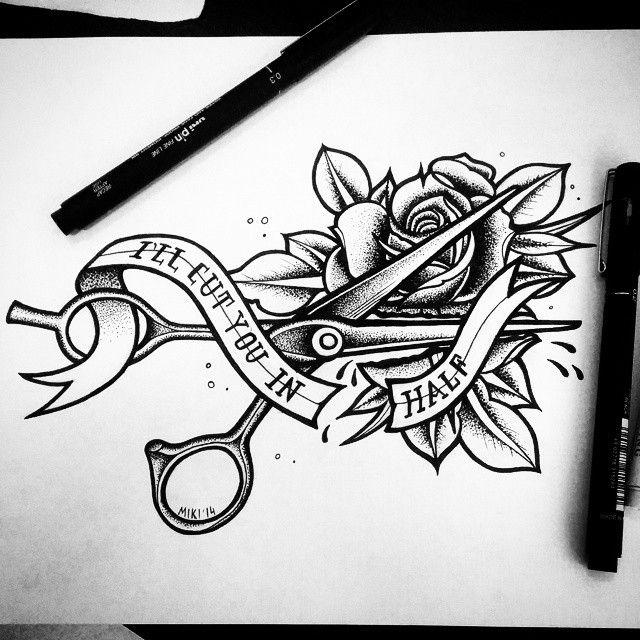 Scissor Tattoos Scissors Tattoo And Scissors: 38 Best Barber Tattoo Images On Pinterest