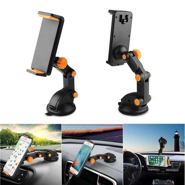 Universal 360 Degree Rotation Anti-slip Car Dashboard Phone Holder Stand Clip Bracket with Sucker for Smartphone GPS Tablet