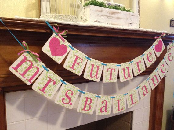 Bridal Shower Decoration FUTURE MRS.  Wedding by ClassicBanners, $27.00   Lilly Pulitzer party - Lilly Pulitzer bachelorette party theme - chin chin decorations m2m Lilly Pulitzer party decor