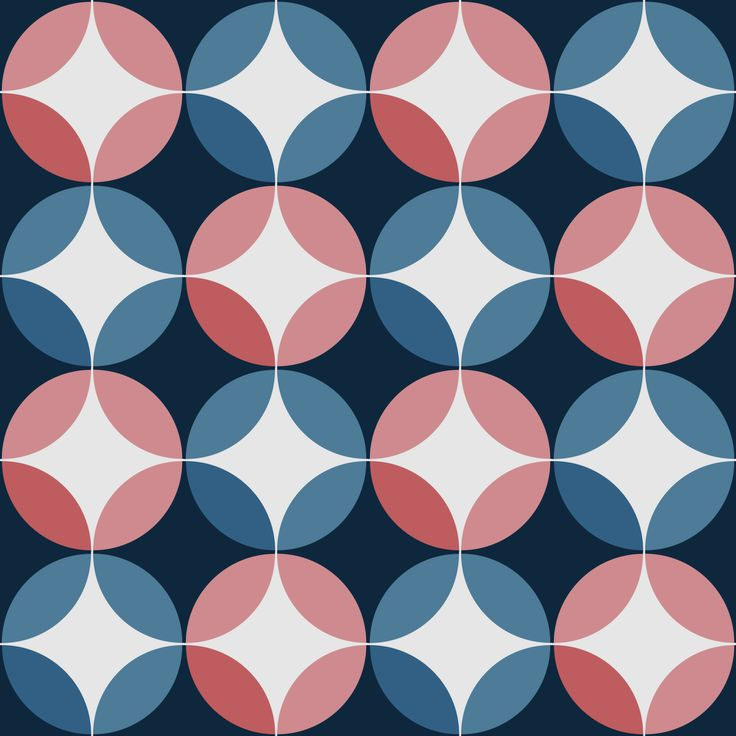 Pink and Blue Vintage Circles. #purpura #cementtiles