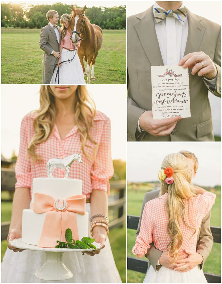 I like the idea of using gingham but not in the wedding dress.  For the flower girl would be cute though.