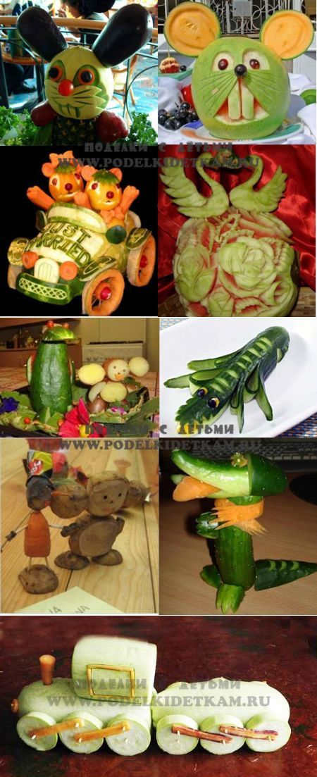articles made of vegetables with your hands