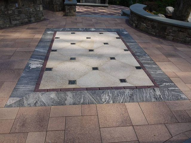 Granite Floor Inlays : Best images about tile inlays on pinterest glass