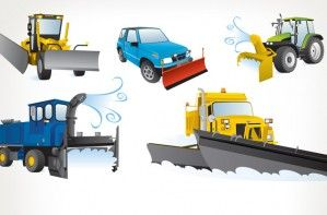 Illustration - Dépliant sur les véhicules de déneigement