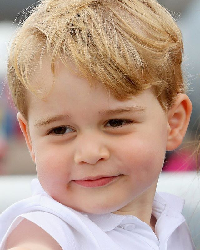 Prince George of Cambridge attends the Royal International Air Tattoo at RAF Fairford on July 8, 2016 in Fairford, England.