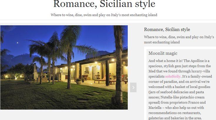 An article on Apolline, our fantastic villa based in Pozzallo, Syracuse! #Syracuse #Villas #Beachhouse #Romance