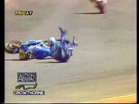 Motorbike accidents at South African race 1985 500cc