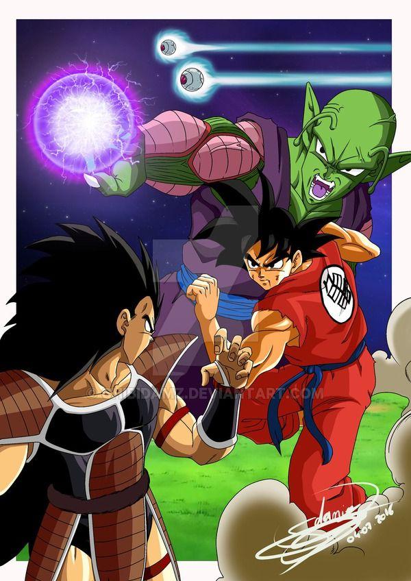 Goku Vs Raditz by ChibiDamZ