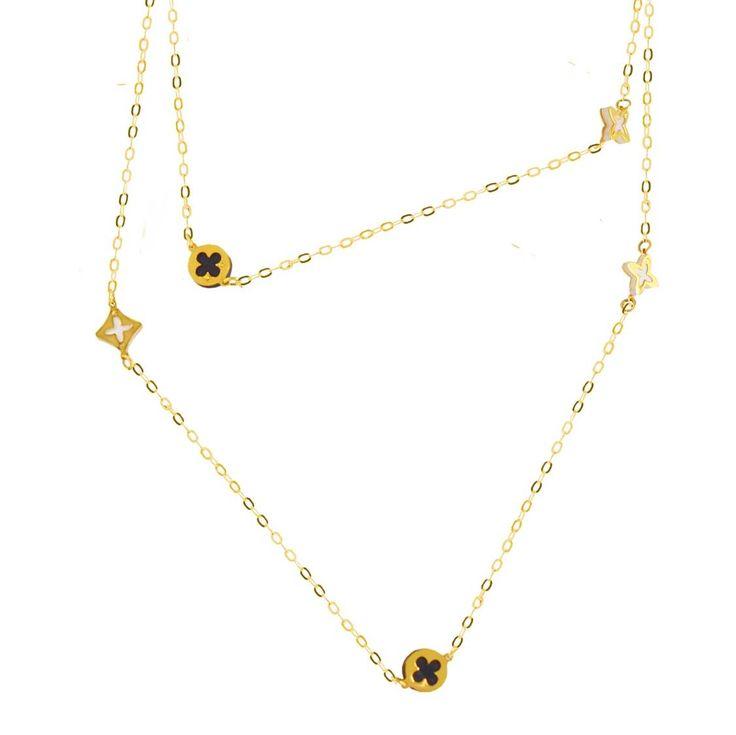 Π87Τ -Χρυσό μακρύ κολιέ