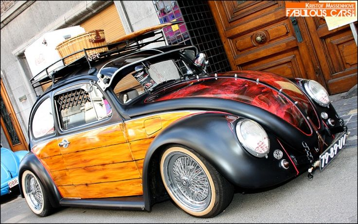 VW Beetle with cool painting