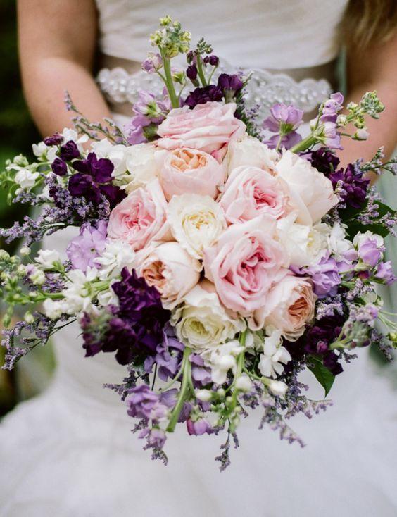 pink and purple wedding bouquet idea via Jenna Henderson Photographer - Deer Pearl Flowers / http://www.deerpearlflowers.com/wedding-bouquet-inspiration/pink-and-purple-wedding-bouquet-idea-via-jenna-henderson-photographer/