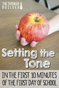 You CAN set a calm, positive, hard-working classroom tone right away--like literally, in the first ten minutes of the first day of school! Come read…