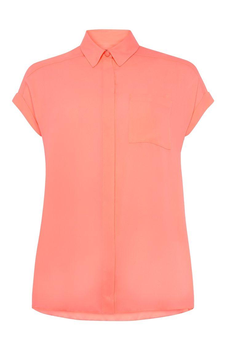 Primark - Coral Crepe Shirt