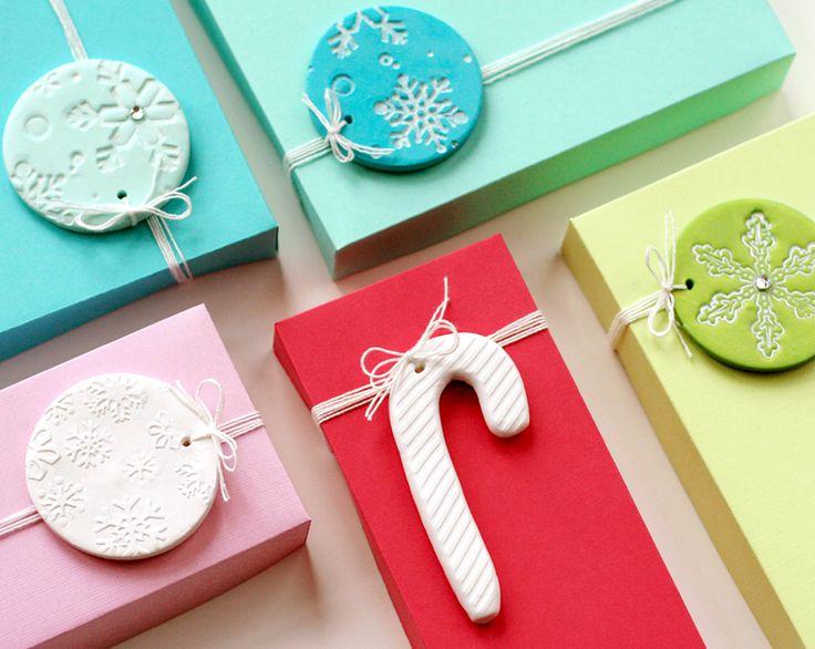 DIY Clay Gift Tags by Lisa Storms at www.fiskars.com