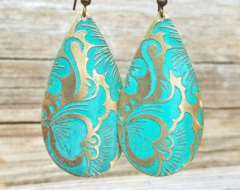 Tribal earrings boho earrings boho jewlery by RusticaJewelry