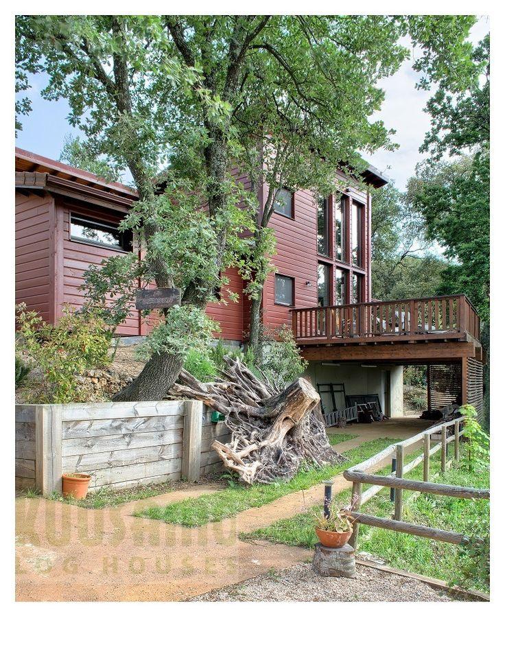 casa de madera en el montseny barcelona kuusamo houses espaa house habitat