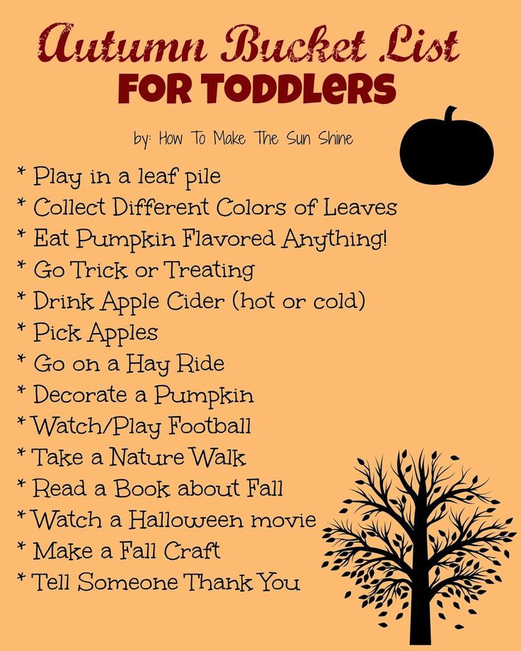 Autumn Bucket List for Toddlers (How to Make the Sun Shine)