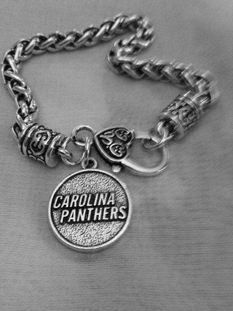Carolina Panthers Charm Bracelet, Carolina, Panthers, Football, North Carolina by GlitzGlamourDesign on Etsy