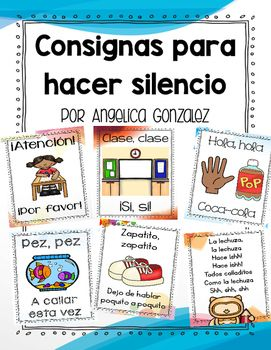 Hola!Here are various songs/chants that will help your students know when it's time to be quiet and listen. Many of these lend themselves to hand/body movements. As a Spanish/Bilingual teacher I know it can be hard to find easy, cutesy chants so I have compiled ones I've heard throughout the years and from other fellow teachers.