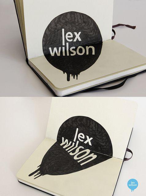 Moleskine illustration #53: Logo Illusion (Anamorphosis) [Explored - Sept 5th, 2012] by Lex Wilson, via Flickr