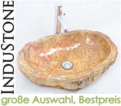FOSSIL WOOD 6 Naturstein Waschbecken NATURAL STONE Versteinertes Holz Bis  40 Cm
