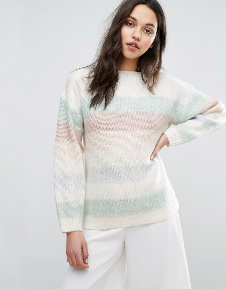 Get this Reiss's jersey dress now! Click for more details. Worldwide shipping. Reiss Naya Multi Colour Stripe Crew Neck Jumper - Multi: Jumper by Reiss, Wool-mix knit, Crew neckline, Dropped shoulders, Ribbed trims, Oversized fit - falls generously over the body, Hand wash, 56% Acrylic, 30% Nylon, 9% Wool, 5% Mohair Wool, Our model wears a UK S/EU S/US XS. Originally launched as a men�s tailoring company in 1971, London-based label Reiss apply the same clean silhouettes, attention to…