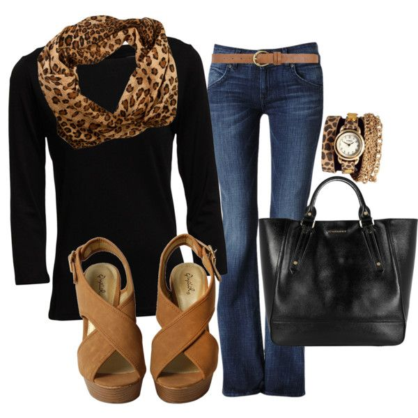 """Casual Friday"" by lklein23 on Polyvore. Clothes Casual Outift for • teens • movies • girls • women •. summer • fall • spring • winter • outfit ideas • dates • parties Polyvore :) Catalina Christiano Black and cheetah print, blue jeans"