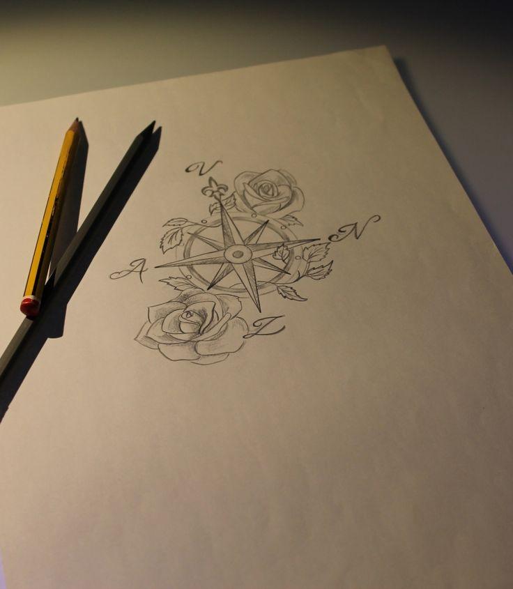 #tattoo rosa dei venti#tattoo sketch#tattoo rose#tattoo disegno#tattoo wind rose