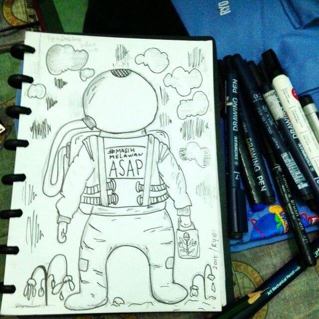 Snowman pen. Asap pekanbaru.