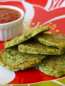 Green Veggie Pancakes- An Easy, Healthy Side Dish | Weelicious ///  So good! Just made this with zucchini, served with tomato sauce. Really great kids meal, but we also loved it. Next time want to try with cauliflower!